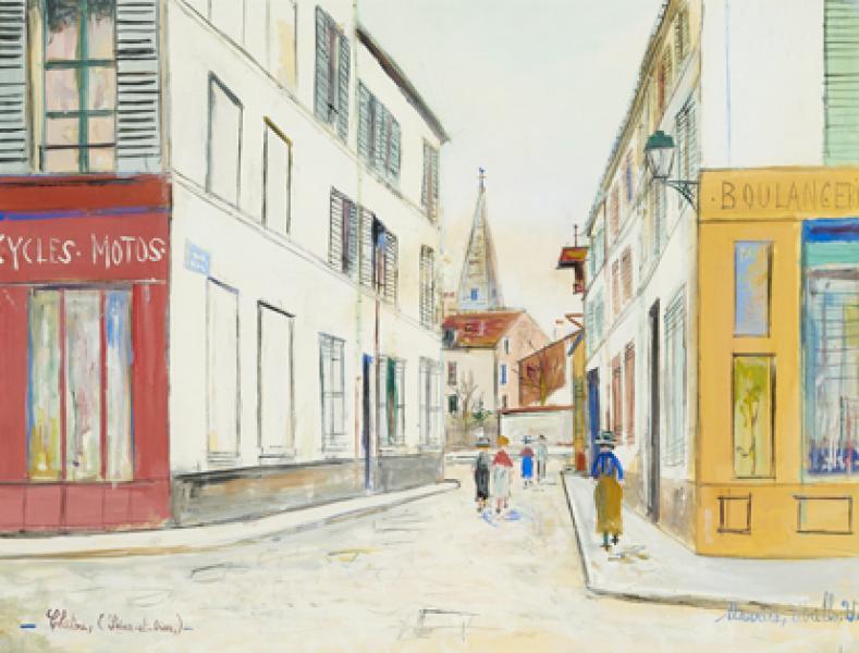 Rue à Chatou (Yvelines), circa 1938