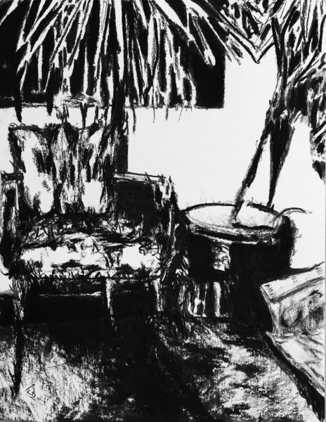 """Série """"La salle d'attente"""", 2016. Dessin sans titre n°4."""