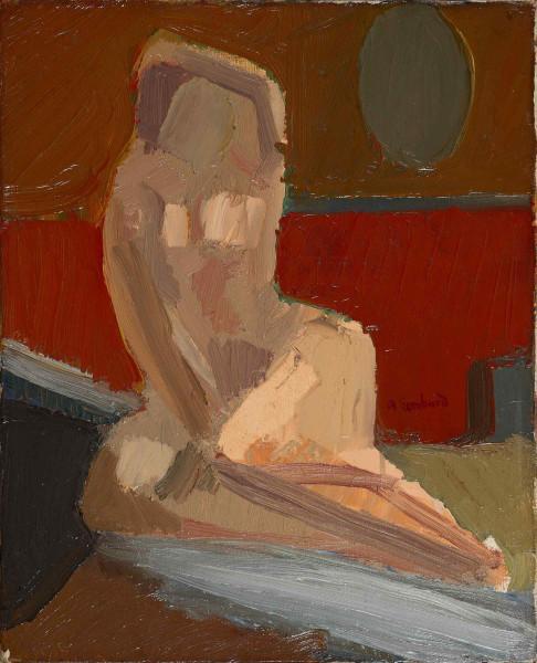 Esquisse d'un nu posant pour une toile, c. 1930