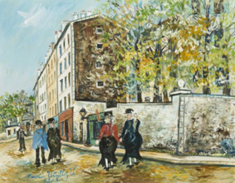 Rue d'Orchampt, Montmartre, 1925