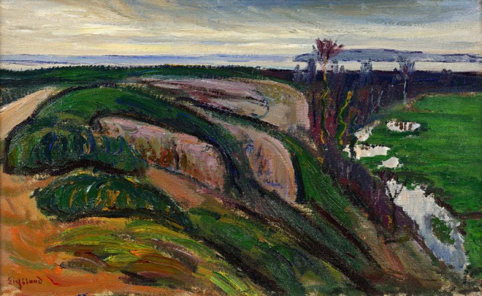 Touloubre par temps gris (Saint Chamas), vers 1933.
