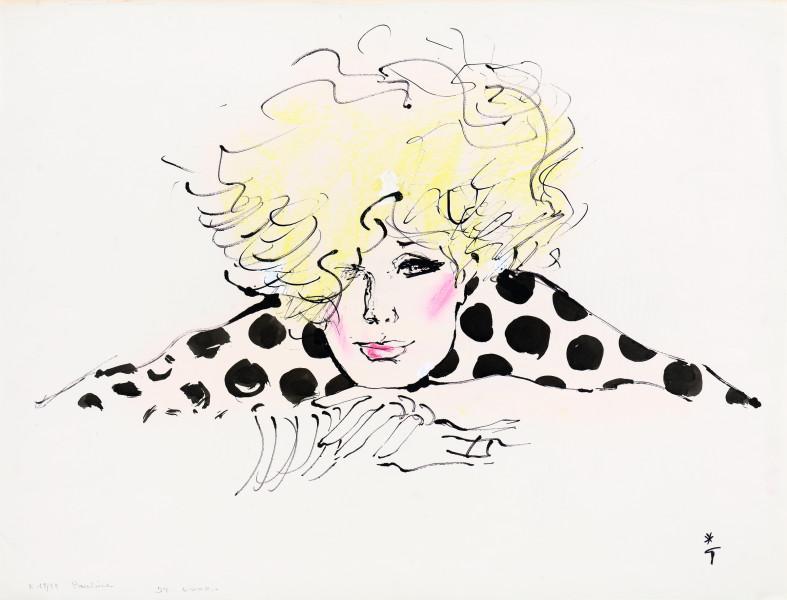 Femme accoudée, 1978