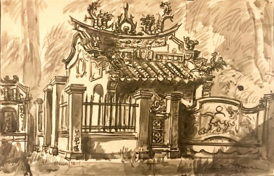 Indochine, Saïgon, Pagode, 1921