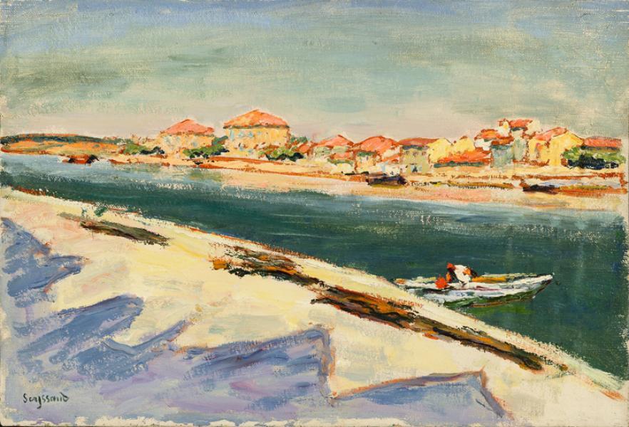 Le canal aux Martigues, 1942