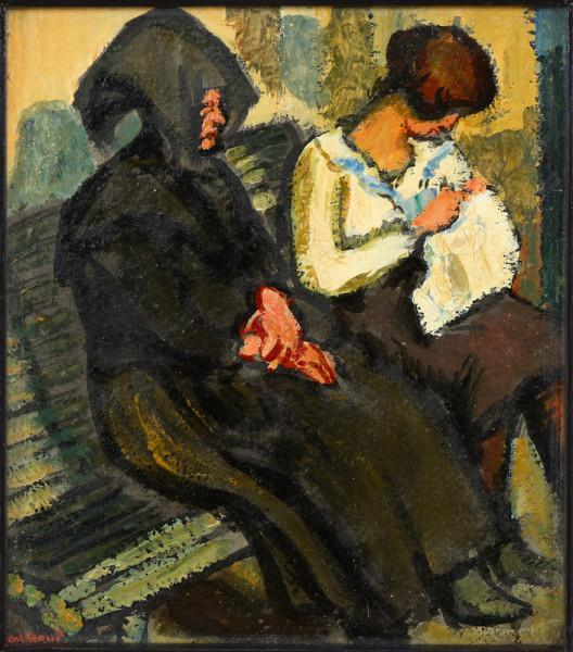 Sous la tonnelle, vers 1921