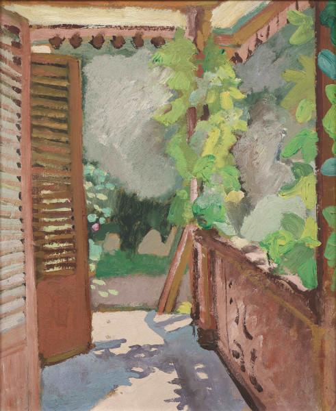 Le balcon terrasse à Montigny-sur-Loing,1925