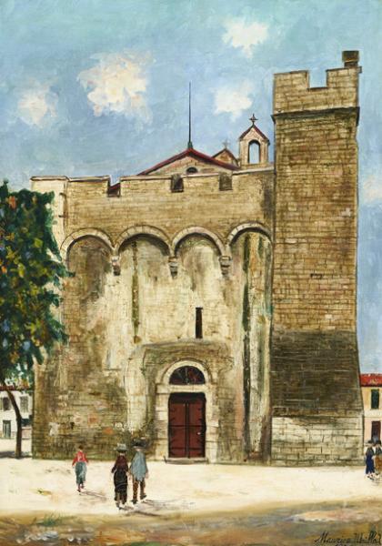 Eglise, Saintes-Marie de la mer (Bouches-du-Rhône), circa 1931