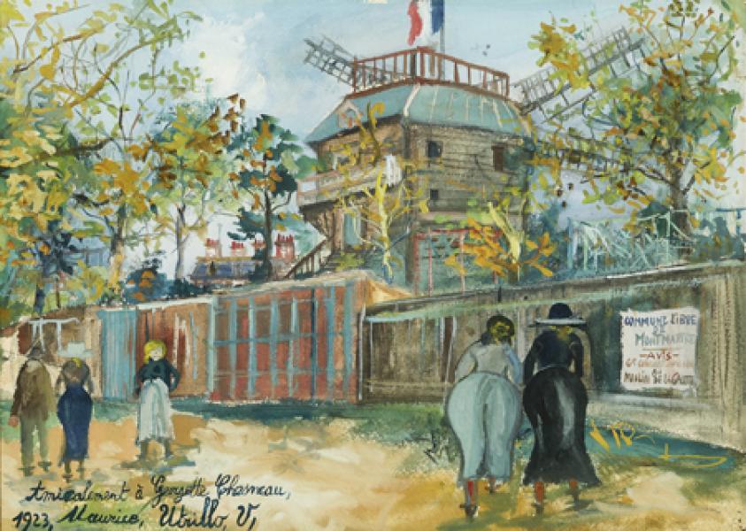 Moulin de la Galette, Montmartre, 1923