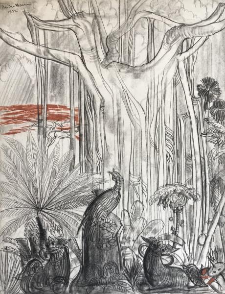 Vietnam, Paon au pied du grand arbre, 1952.