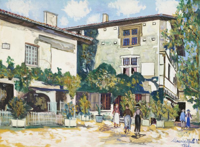Maison à piliers Hostellerie, Pérouges (Ain), 1928