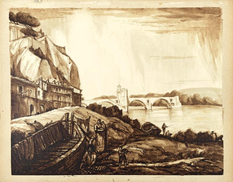 Avignon, Le pont du Gard, 1932