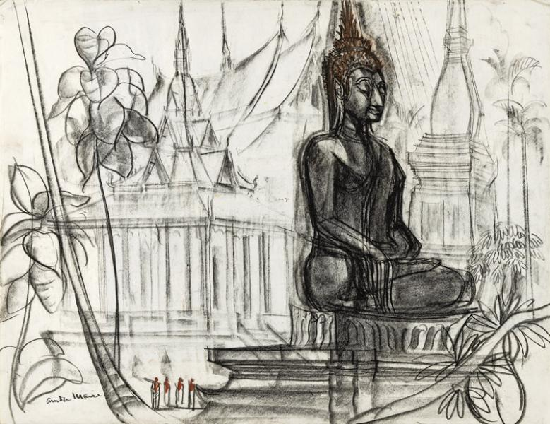 Laos, Grand bouddha assis