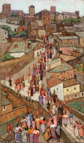 Cáceres, porteuses d'eau, 1933