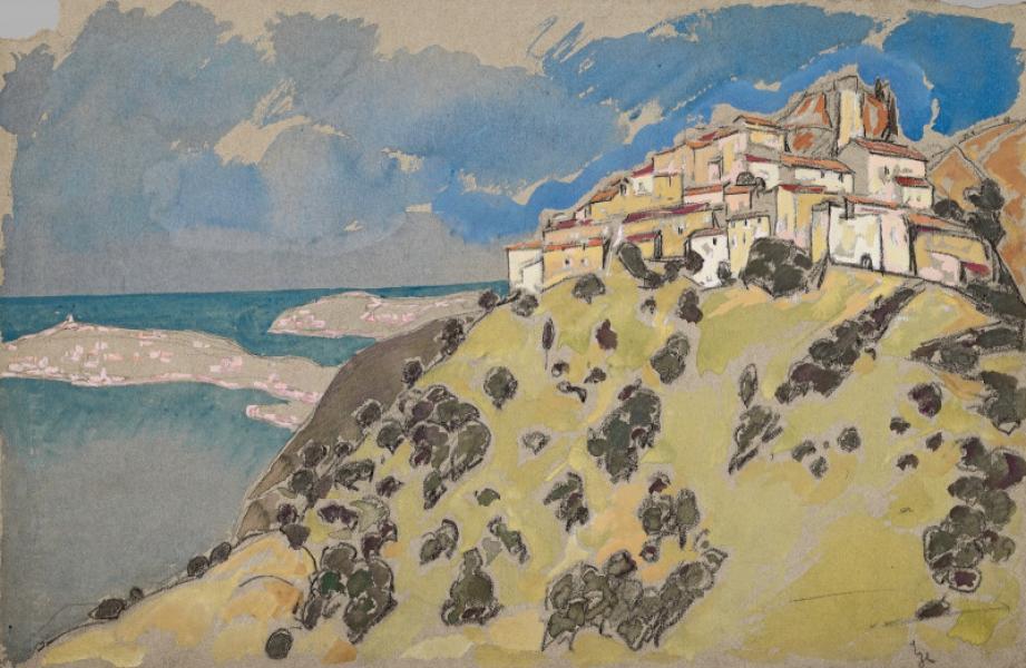 Eze, le village et la mer