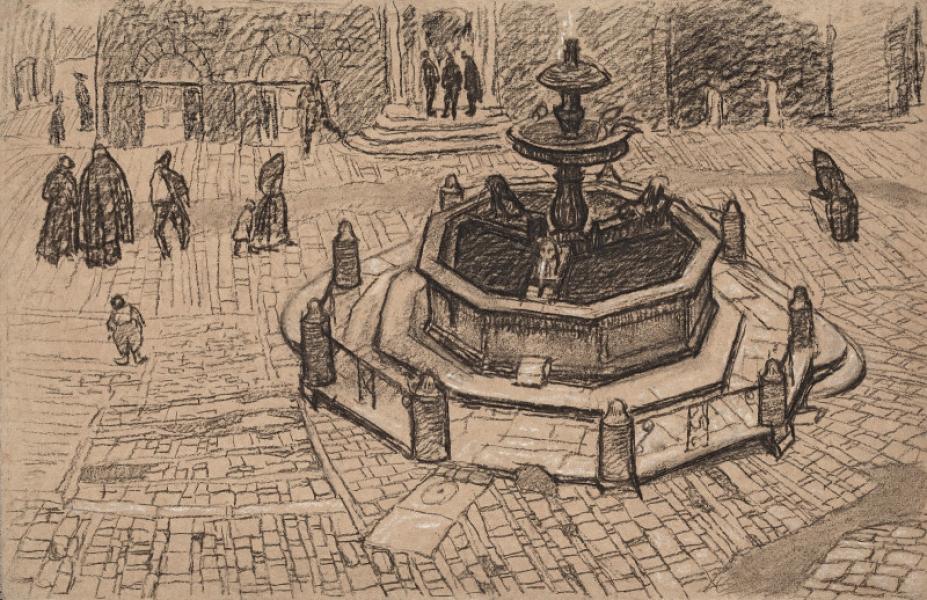 Fontaine aux trois lions