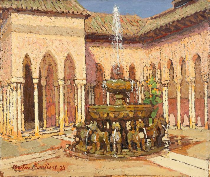 L'Alhambra, les colonnettes de la Cour des Lions, 1933