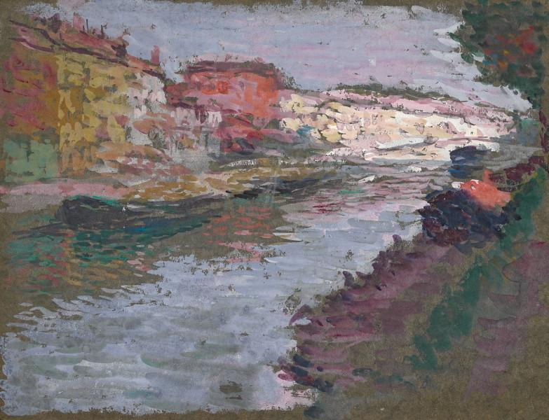 La Seine, péniche accostée