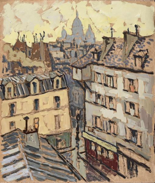 Les toits de Paris, le Sacré- Cœur en fond