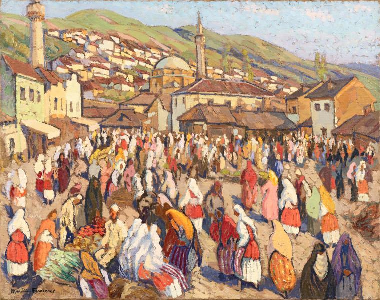 Marché à Prizen, Yougoslavie, c.1938
