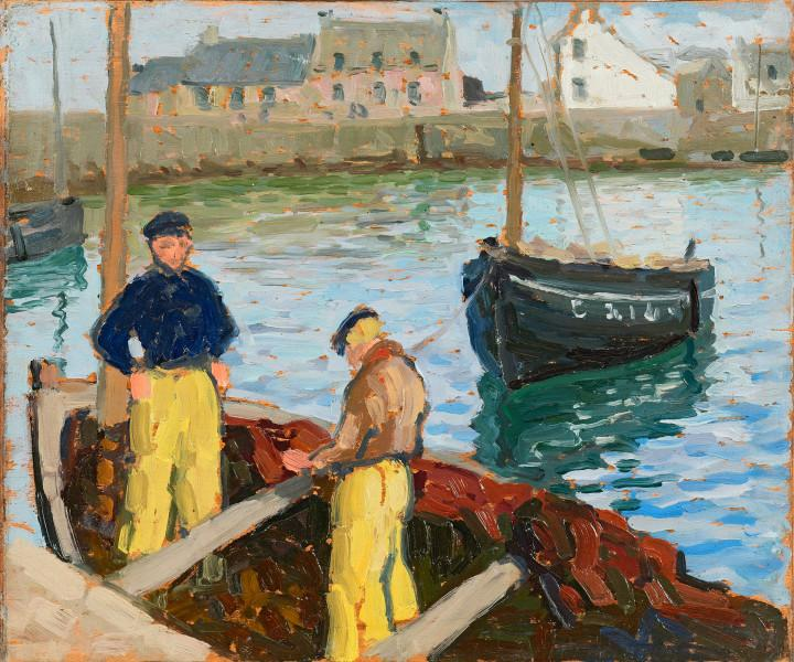 Pêcheurs bretons au port