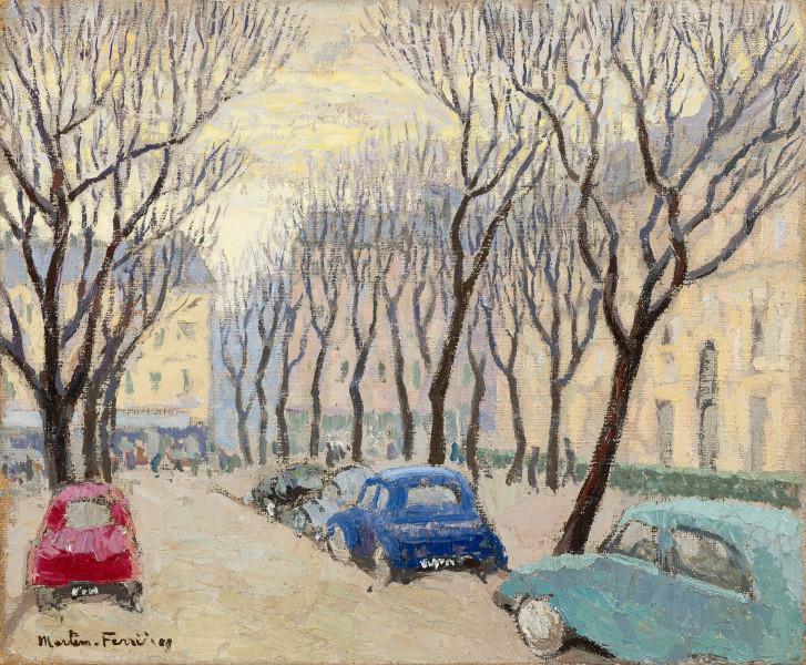 Paris, les arbres dénudés, avenue Gabriel, 1963