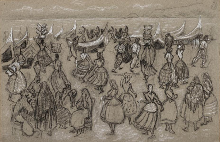 Portugal, barques, pêcheurs et femmes