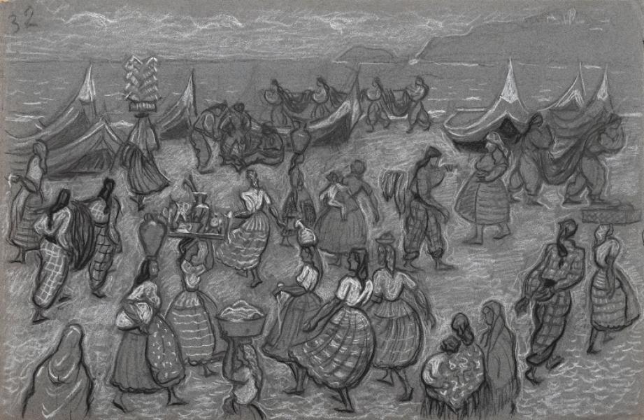 Portugal, pêcheurs et femmes
