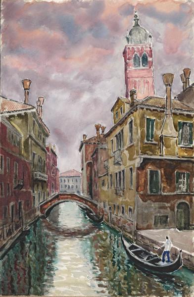 Venise, canal et campanile