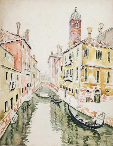 Venise, gondole sur le canal