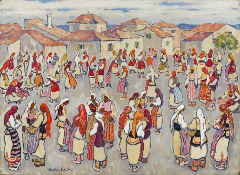 Yougoslavie, femmes en foule I