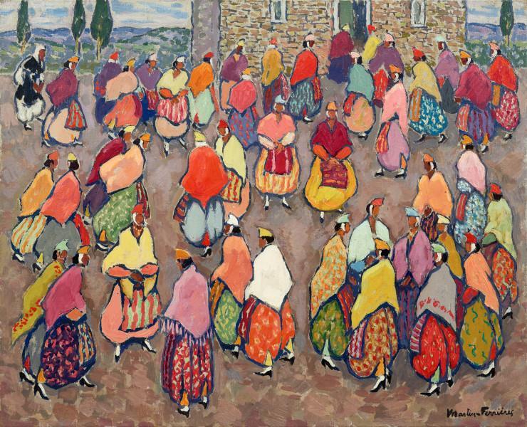Yougoslavie, foule colorée