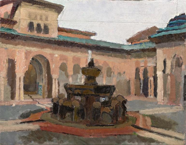 Fontaine dans le patio, Espagne