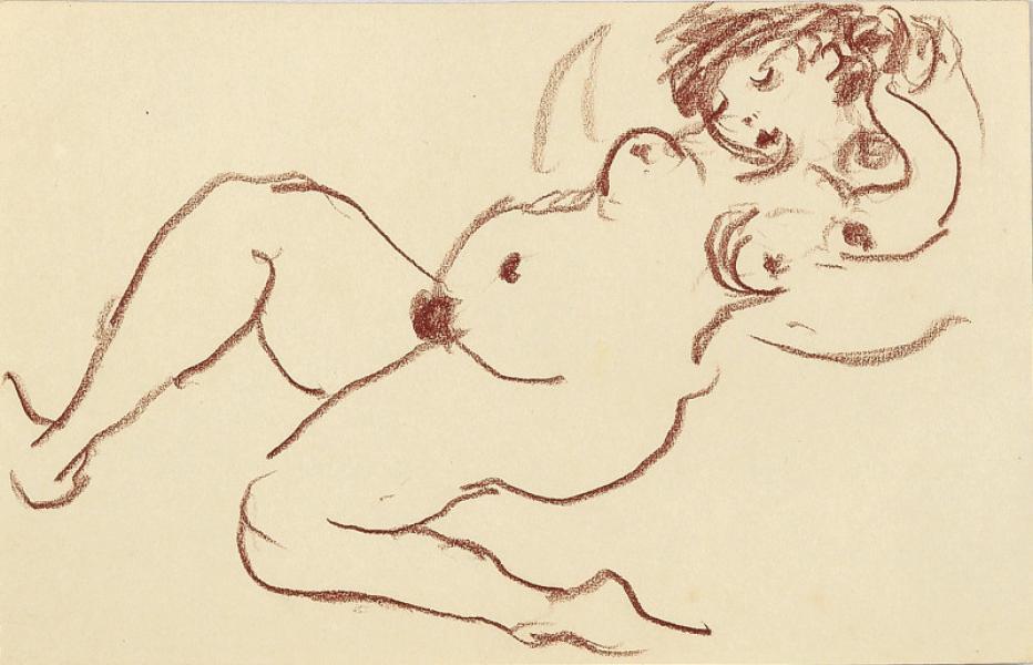 Femme nue, hippopodame, la danse
