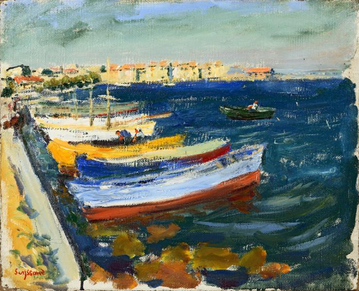 Barques à quai, Martigues, 1942