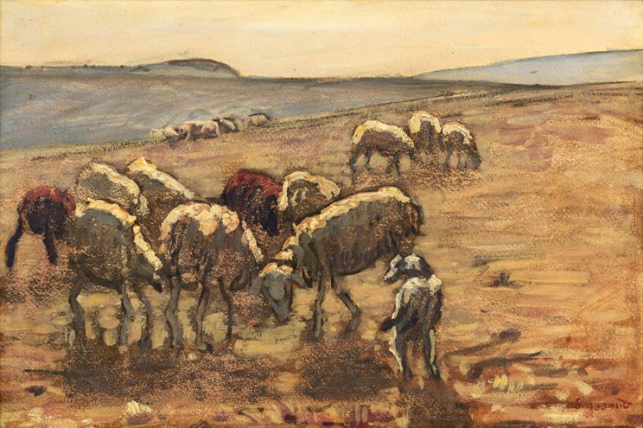 Les moutons, vers 1899