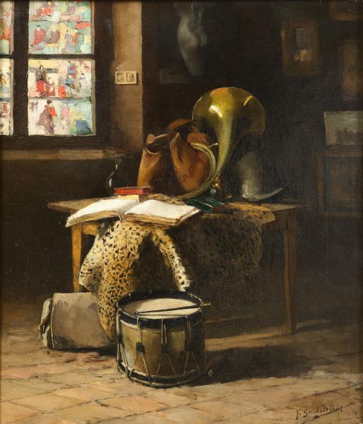 Composition dans un coin d'atelier, 1885