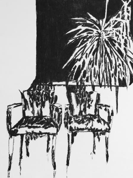 """Série """"La salle d'attente"""", 2016. Dessin sans titre n°5."""