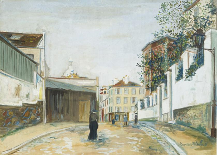 Rue Norvins, Montmartre, circa 1920-22