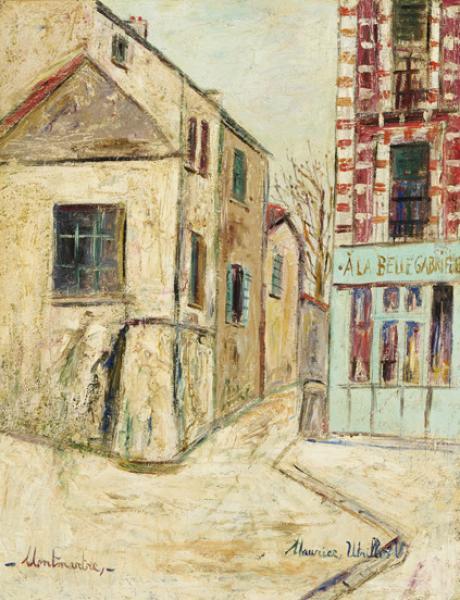 Belle Gabrielle et rue Saint-Vincent, Montmartre, circa 1948