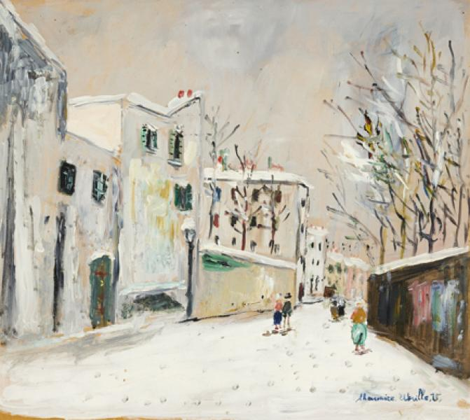 Rue Saint-Vincent sous la neige, Montmartre, circa 1955