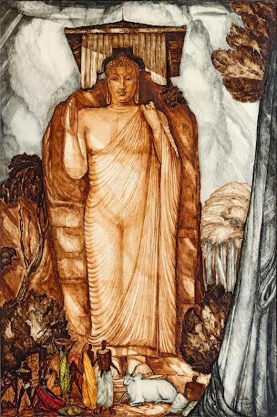 Inde, Bouddha debout, 1940
